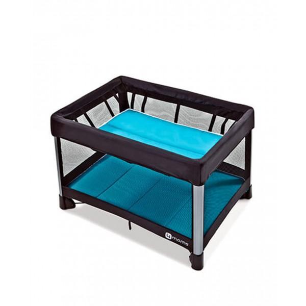 4momo 微風二合一摺疊遊戲床 2.0(藍)美規 2000456