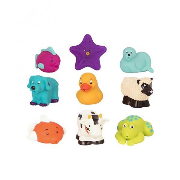 美國【B.Toys】感統玩具 battat_海星與朋友們(9pcs) BT2527Z (缺貨中)