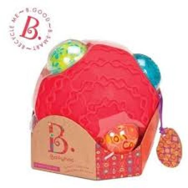 美國【B.Toys】感統玩具 波麗觸覺感統球組 BX1153Z