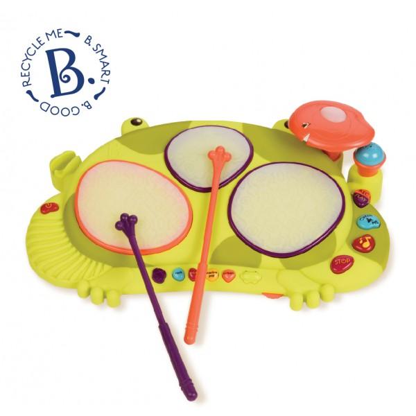 美國【B.Toys】感統玩具 饒舌蛙電子鼓  Rabitt-tat-tat  BX1389