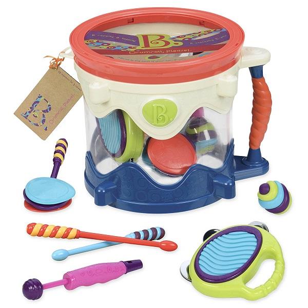 美國【B.Toys】感統玩具_進行式鼓追樂隊  BX1446X
