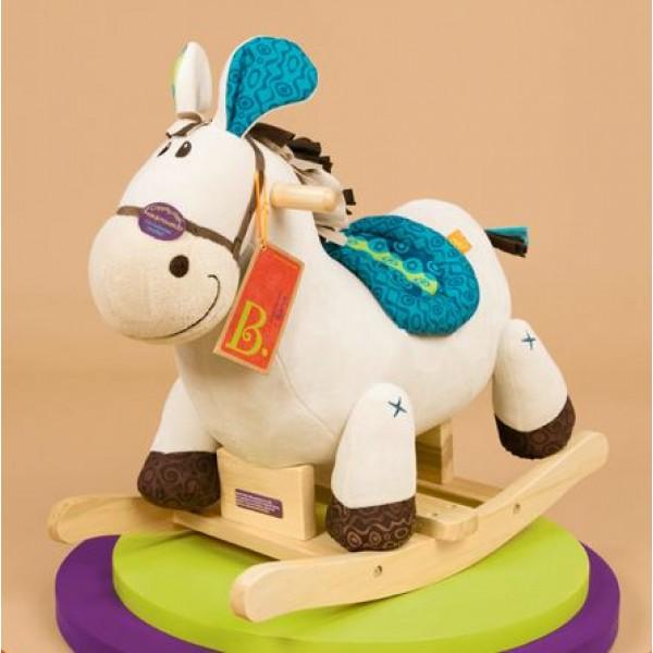 美國【B.Toys】感統玩具 搖搖馬伊哈 BX1512Z
