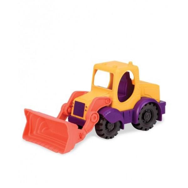 美國【B.Toys】小挖人推土機(蛋黃)