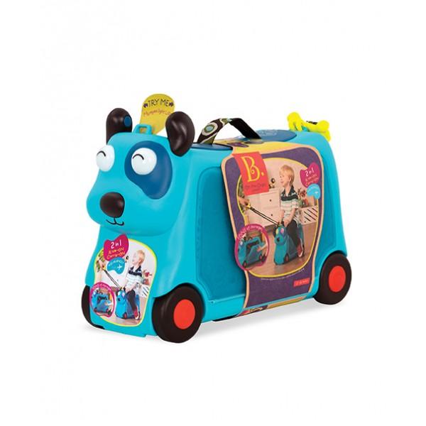 美國【B.Toys】感統玩具 小獵犬沃菲行李箱 BX1572Z