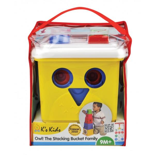 貓頭鷹形狀堆疊組 (Owl! The Stacking Bucket Family) SB004-39  缺貨中