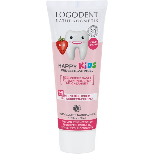 LOGONA Kids兒童草莓牙膏50ml