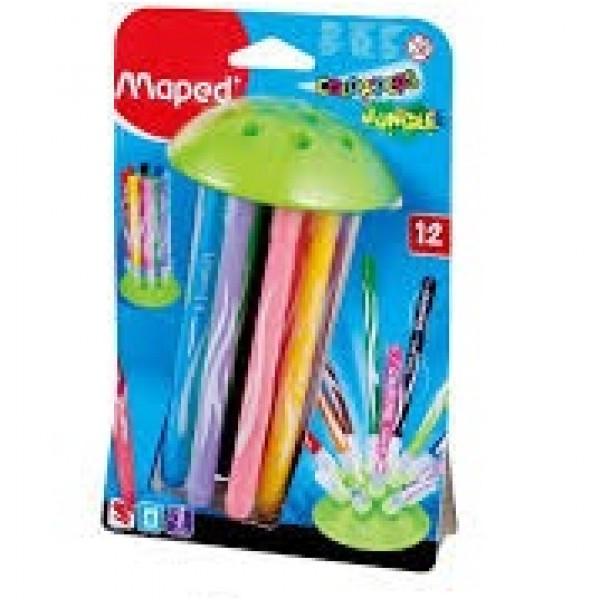水母吸盤12色彩色筆
