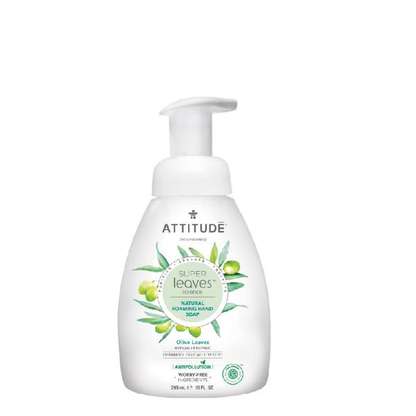 加拿大 ATTITUDE 艾特優_Super Leaves™泡沫洗手乳- 橄欖葉 295ml  AL14083 (效期:2021/09/14)