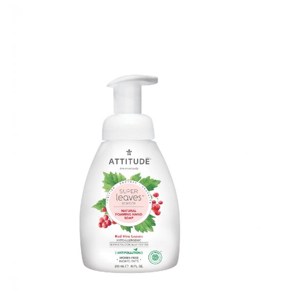 加拿大 ATTITUDE 艾特優_Super Leaves™泡沫洗手乳-紅色藤葉 295ml  AL14084 (效期:2021/09/17)