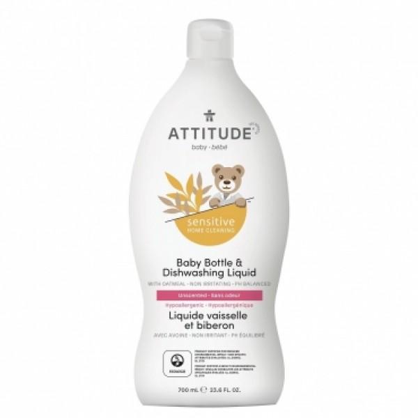 加拿大 ATTITUDE 艾特優_寶寶敏感肌膚奶瓶餐具洗潔精  700ml - A60318