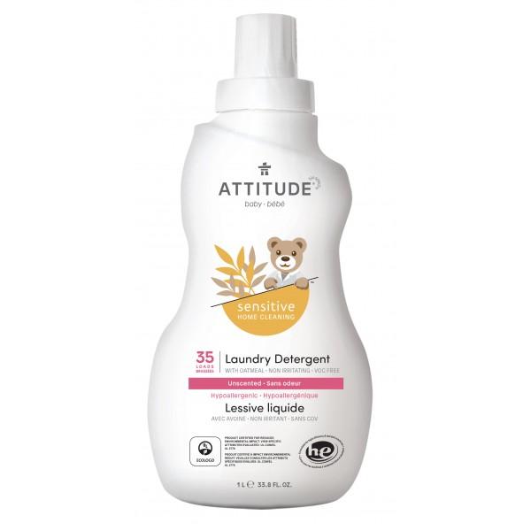 加拿大 ATTITUDE 艾特優_寶寶敏感肌膚洗衣精 1L - A60203
