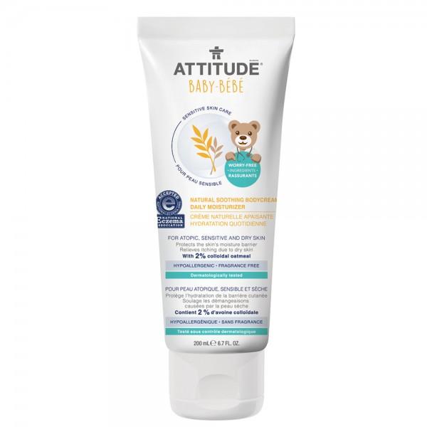 ATTITUDE 艾特優 寶寶敏感肌膚舒緩保濕乳霜 (無香精) 200ml *保存期限2021/4/25*