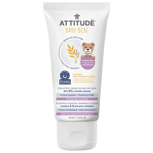 加拿大 ATTITUDE 艾特優_寶寶敏感肌膚深層修護霜 A60670