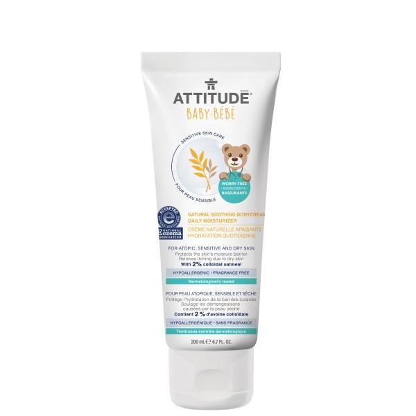 加拿大 ATTITUDE 艾特優_寶寶敏感肌膚舒緩保濕乳霜  200ml - A60812 缺貨中